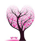 Love tree — Stok Vektör