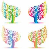 Bäume kunstsammlung — Stockvektor
