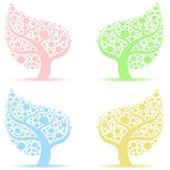 Träd konstsamling — Stockvektor