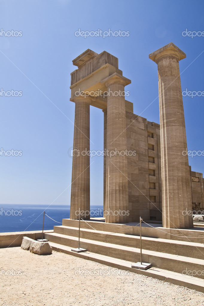 Ancient Temple ruins of Rhodes — Stock Photo #6043786