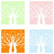 Art trees — Stock Vector