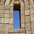 Window of ancient Temple ruins of Rhodes — Stock Photo