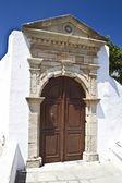 Old pattern door in Rhodes — Stock Photo