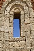 Ventana del antiguo templo ruinas de rodas — Foto de Stock