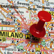 Milan map - Stock Photo