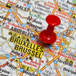 Brussel map — Stock Photo