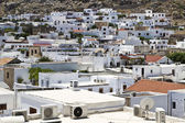 Traditional greek white houses — Stock Photo