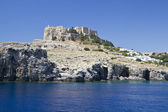 Lindos acropolis — Stock Photo
