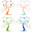 Art trees — Image vectorielle