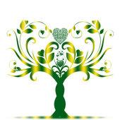 情人节树 — 图库矢量图片