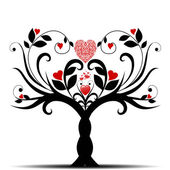 Valentine tree — Stock vektor