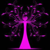 Art tree — Vector de stock