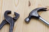 Wrench and hammer — Stock Photo