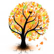 colorful autumn tree — Stock Vector