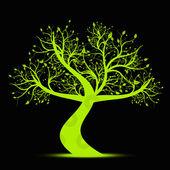 árbol de arte — Vector de stock