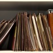 Files on Shelf — Stock Photo