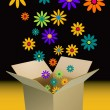 Box of flowers — Imagen vectorial