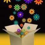 Box of flowers — Stock Vector #6600163