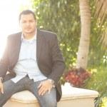 Latino businessman outdoors — Stock Photo #6037212