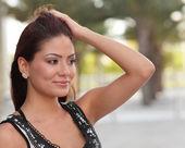 Beautiful woman glancing — Stock Photo