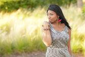 çekici genç siyah kadın — Stok fotoğraf