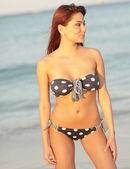 Happy bikini model — Stock Photo