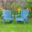Stock Photo: Backyard Chairs