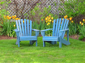 Backyard Chairs — Stock Photo