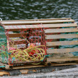 Stock Photo: Lobster Trap and Buoys
