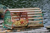 Bóias e armadilha da lagosta — Foto Stock
