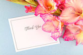 Gladiolus Thank You. — Stock Photo