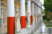 Statues, Achillion Palace — Stock Photo