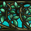 Stained Glass leaves — Stock Photo