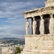 Caryatids at Erechtheum — Stock Photo