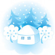 Decorative winter background — Imagens vectoriais em stock