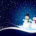 Christmas card with snowman — Stock Vector
