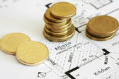 Australian currency and house. — Stock Photo