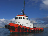 Red Tugboat — Stock Photo