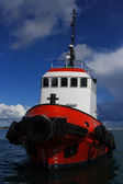 Red Tugboat At Anchor — Stock Photo