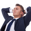 Relaxed and dreaming business man — Stock Photo #5589514