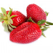 Three strawberries — Foto de Stock