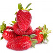 Red strawberries close up - Foto Stock