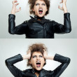 Frustrated and angry woman is screaming — Stock Photo