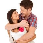 Loving couple embracing — Stock Photo #5802332