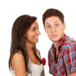 Surprised couple over white — Stock Photo #5802374