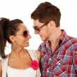 Couple wearing sunglasses — Stock Photo