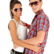 Man and woman couple wearing sunglasses — Stock Photo #5802390