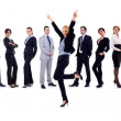 Succesfull business woman and her team — Stock Photo
