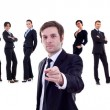 Business man pointing at you — Foto Stock