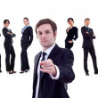 Stock Photo: Business man pointing at you